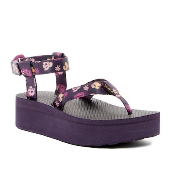 ac51ca21c762 Teva Floral Flatform Thong Sandal
